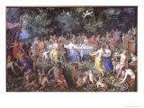 The Feast of the Gods Reproduction procédé giclée par Hendrik van the Elder Balen