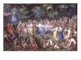 The Feast of the Gods Reproduction procédé giclée par Hendrik van the Elder Balen