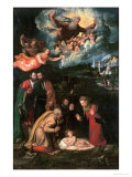 Nativity with God the Father Giclee Print by Battista Dossi