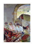 Preparing the Dry Grapes, 1890 Giclee Print by Joaquín Sorolla y Bastida