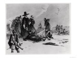 Pilgrims Giclee Print by H. Faber