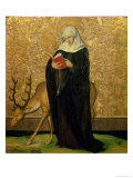 Female Saint with a Stag Giclee Print by Konrad Witz