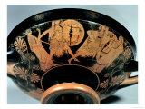 Menelaos and Aphrodite, Pursue Paris Who Runs Towards Artemis, Attic Red-Figure Cup Giclee Print by Douris