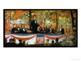Abraham Lincoln and Stephen A. Douglas Debating at Charleston, Illinois, 18th September 1858 Giclee Print by Robert Marshall Root