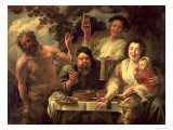 The Satyr and the Peasants Giclee Print by Jacob Jordaens