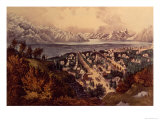 Great Salt Lake, Utah Giclee Print by Currier & Ives