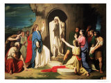 The Resurrection of Lazarus Giclée-Druck von Jose Casado Del Alisal