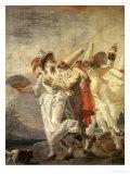 Pulcinella in Love, c.1793 Giclée-tryk af Giandomenico Tiepolo