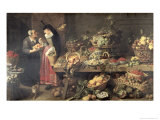 Fruit Stall, 1618-21 Giclee Print by Frans Snyders Or Snijders