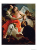 Abraham and the Three Angels Giclee Print by Giovanni Battista Tiepolo