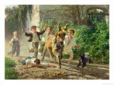 The Street Urchins, 1872 Giclee Print by Filippo Palizzi