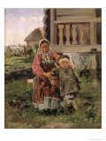 Brother and Sister, 1880 Giclee Print by Vladimir Egorovic Makovsky