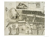 Plan of Edinburgh, Pub. by John Smith Giclee Print by Andrew Johnston