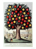 The Tree of Temperance, 1872 Reproduction procédé giclée par Currier & Ives