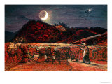 Cornfield by Moonlight, 1830 Giclee Print by Samuel Palmer