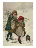 Illustration from Christmas Tree Fairy, Pub. 1886 Giclee Print by Lizzie Mack