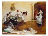 Silks and Satins, 1900 Giclee Print by Albert Chevallier Tayler