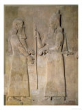 Relief Depicting Sargon II Giclee Print by  Assyrian