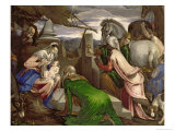 Adoration of the Magi, 1563-64 Giclee Print by Jacopo Bassano