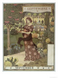 September Giclee Print by Eugene Grasset