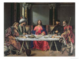 The Supper at Emmaus Giclee Print by Giovanni Bellini