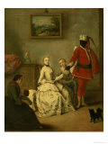 The Moor's Letter, c.1750 Giclee Print by Pietro Longhi