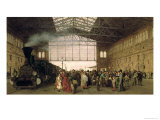 Nordwest Bahnhof, Vienna, 1875 Giclee Print by Carl Karger