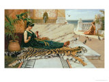 The Tiger Skin, c.1895 Giclee Print by John William Godward