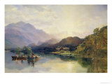 Fishing Party at Loch Achray, with a View of Ben Venue Beyond Giclee Print by Samuel Bough