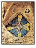 Stained Glass Window Giclee-trykk av Antoni Gaudí