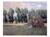 Haystacks, 1885 Giclee Print by Claude Monet