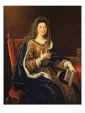 Portrait of Francoise D'Aubigne Giclee Print by Pierre Mignard