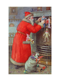 Father Christmas Giclee Print by Karl Roger