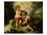 The Boys with the Shell, c.1670 Giclee Print by Bartolome Esteban Murillo