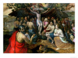 Allegory of the Trinity Reproduction proc&#233;d&#233; gicl&#233;e par Frans Floris