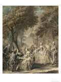Parisians Out For a Walk, 1760-1 Giclee Print by Gabriel De Saint-aubin