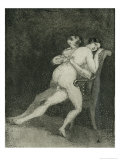 Erotic Couple on a Chair, c.1880 Reproduction procédé giclée par Francisco de Goya