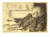 Portrait of Ernest Renan, 1892 Giclee Print by Anders Leonard Zorn