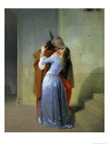 The Kiss, 1859 Giclee Print by Francesco Hayez