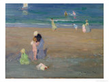 The Beach, Trouville Giclee Print by Emmanuel Phillips Fox