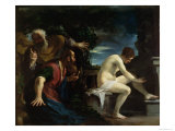 Susanna and the Elders Lámina giclée por  Guercino