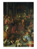 The Glassworks, 1572 Giclee Print by Giovanni Maria Butteri