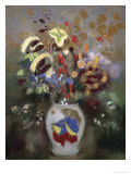 Still Life of a Vase of Flowers Giclee Print by Odilon Redon