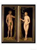 Adam and Eve, 1537 Giclee Print by Lucas Cranach the Elder