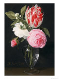 Flowers in a Glass Vase Giclee Print by Daniel Seghers