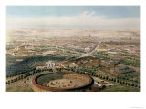 Aerial View of Madrid from the Plaza de Toros, 1854 Giclee Print by Alfred Guesdon