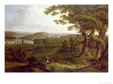 View from the North West of Castle Howard, Yorkshire, 1800 Giclee Print by Hendrik Frans De Cort