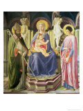The Madonna and Child with Ss. Clement and Justin, 1449-50 Giclee Print by Master Of The Castello Nativity