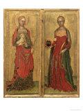 St. Agnes and St. Domitilla Giclée-tryk af Andrea di Bonaiuto