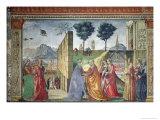The Visitation Giclée-tryk af Domenico Ghirlandaio
